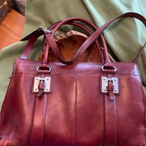 All leather business bag for a lady